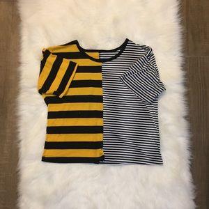 [ROMWE] contrast shirt